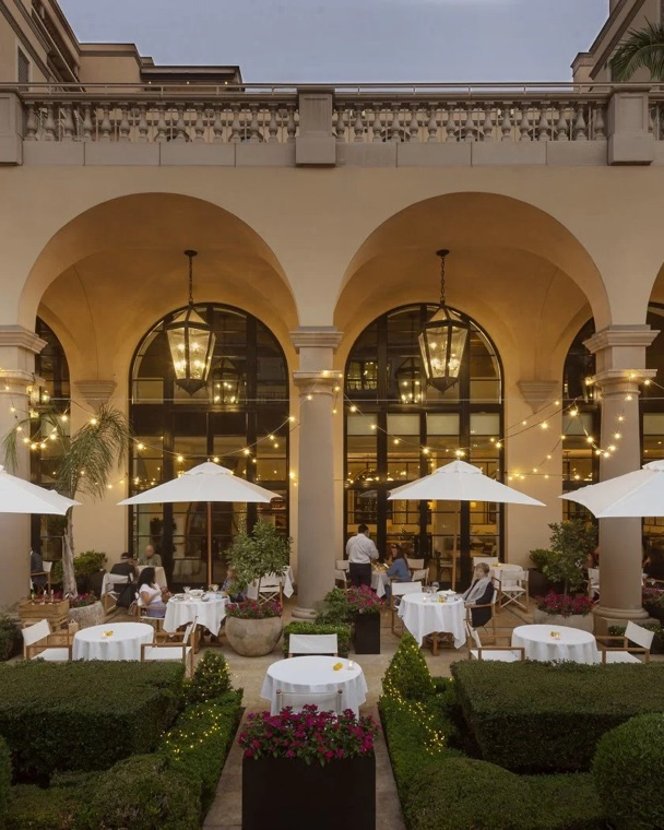 Terrace restaurant at the Maybourne Beverly Hills
